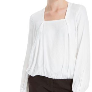 Max studio white blouse